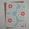Teal Flowers - A2 Blank Greeting Card & Envelope