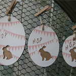 Bunting Kraft Bunny Tags