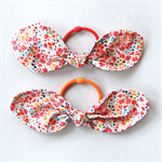 Elastic hair tie with a Liberty fabric bow