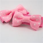 Cute baby soft pink and white polka dot hair snap clips