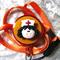 Cute Nurse ID Clip & Lanyard- Orange
