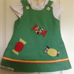 2 in 1 reversible cotton dress with appliquéd lollies size 2