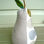 Silver beige pear door stop