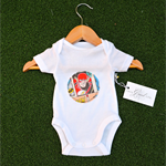 Gorgeous cotton onesie (newborn), supercool Flash superhero print.