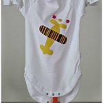 Infant Boys Long Sleeve Onesie with a Funky  Plane Applique.