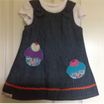 2 in 1 reversible denim dress size 3