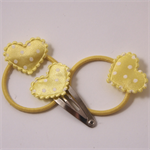 Lemon hearts 3pk baby/ toddler pigtail hair set.