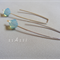 "Argentium Sterling Silver range - ""Pacific Opal"" Swarovski crystal earrings"