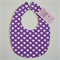 BUY 3 GET 4th FREE Purple Love Heart Bib