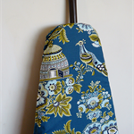Ironing Board Cover - Royal Garden birds flowers in turquoise Amy Butler