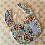 Floral Bunny Bib - One Size Fits All