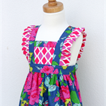 Size 2 - Ruffle Pinny Dress