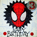 Spiderman Birthday Card,with iron on transfer