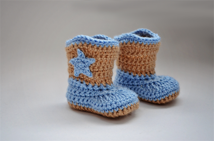 Crochet Baby Booties Boy Cowboy Boots Bonnets And Bits Madeit