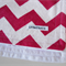 Pink and White Zig Zag/Chevron Flannel Baby Blanket