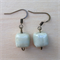 White square ceramic bead earrings.