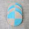 set of 4, felt coasters, round, beige/dusk blue, mum, Mother's day