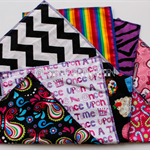 Large girls chuck rag burp cloth set