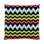 Black Green Yellow and Pink Chevron Cushion Cover Throw Cushion Home Decor
