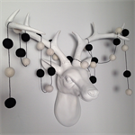 Felt Ball Garland Black & White