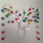 Felt Ball Garland Rainbow