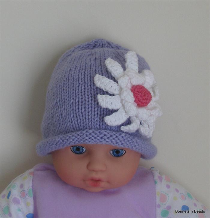 5434960ec8c Baby Girls Knit Lilac Rolled Beanie