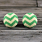 Buy 2 pairs and get a third set free (Fabric button studs only). Mint Chevron