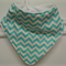 Bandana Drooler Super Absorbent Bib Blue Chevron - 3 Layer Bib