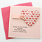 MUM Mother's Day card pink paper heart polka dots