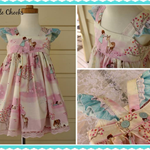 "Size 1 ""Grace""  Party dress in Wee wander fabric"