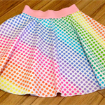 Rainbow Skater Skirt