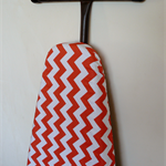 Ironing Board Cover - Coral medium chevron zig zag