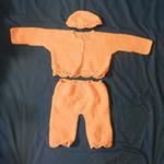 Orange Jacket, Pants and Hat set