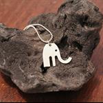 Vintage Silverware Baby Elephant Fork Pendant