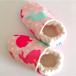 "Baby shoes bamboo fleece lined ""EASTER BUNNY"" stay on/soft soled. Easter special"