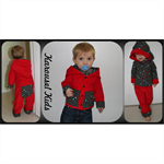 CLEARANCE... SIZE 2 Boys Red Corduroy Reversible Jacket
