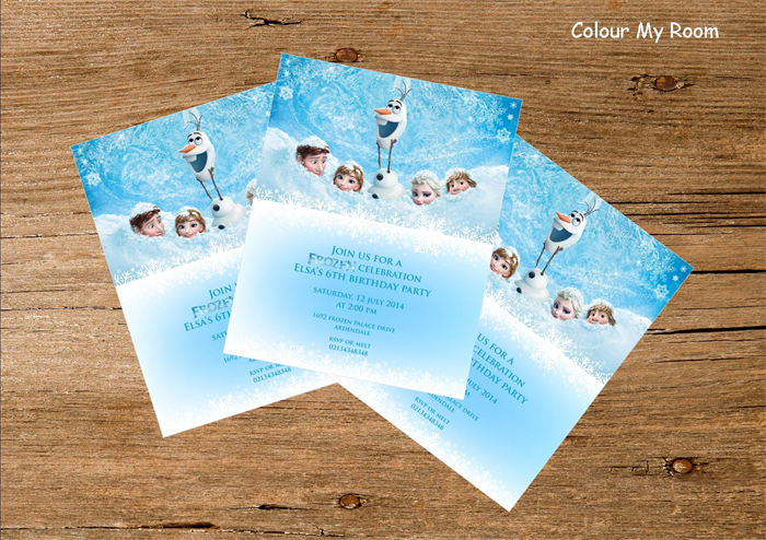printable frozen birthday party personalised invitation
