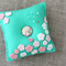 field of wild blossoms felt pincushion in sage green, pink, white, Mother's day