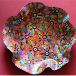 Splattered & Dotty Record Bowl  ... Vinyl Record Upcycled