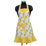 Ladies Apron in Lemon Fabric titled Juicy by Alexander Henry