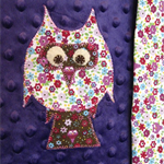Owl snuggle blanket - purple/white/pink