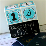 Custom Made Countdown Wood Block Set
