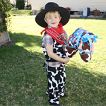 Cowboy Vest, Chaps, Necktie