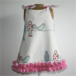 Patchwork Birds Shoulder-tie Dress (NEW)