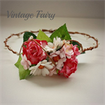 Pretty in pink flower crown/ Tiara