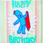 Iggle Piggle Birthday Card,with iron on transfer
