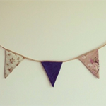 Custom Wedding Bunting by the Metre- Vintage - Fabric - Lace (Double Sided)