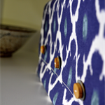 Up-cycled Moroccan Blue Clutch