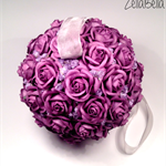 Purple Mulberry Paper Flower Ball