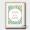 Umbrella Birth Stat Nursery Print